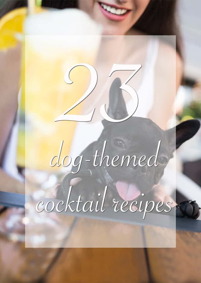 23 dog themed cocktail recipes